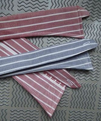 Vintage replacement shirt collar striped Red or Blue UNUSED spare sew-on